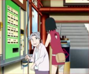 BORUTO、17話、サラダ、元町駅のおばあちゃん