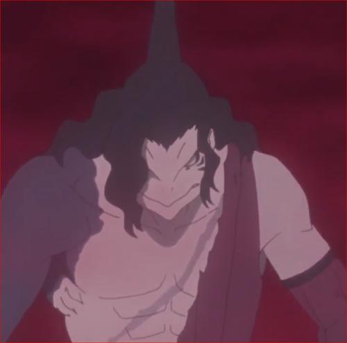 アニメBORUTO第31話、干柿屍澄真、鮫肌に食われる。