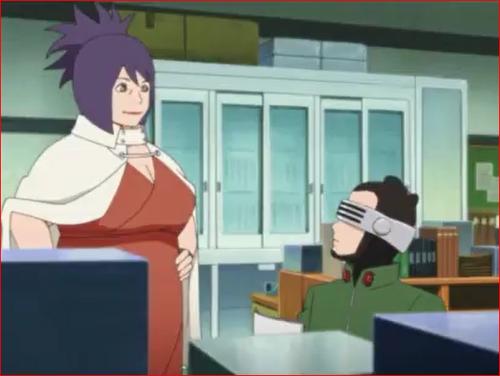 アニメBORUTO35話、シノ先生とアンコ先生