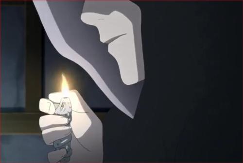 BORUTO39話、タバコに火をつけるログ