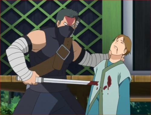 アニメBORUTO40話、みどりの畔の村人を刺す葦丸