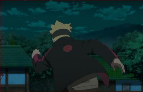 アニメBORUTO40話、伎璃を連れ戻そうと反射的に行動するボルト