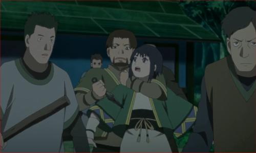 アニメBORUTO40話、村人を止める伎璃を襲う裏切り者・依織