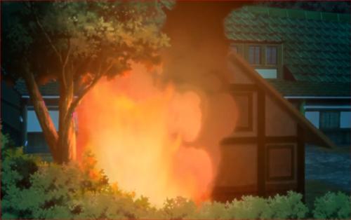 アニメBORUTO40話、燃え出す貯蔵庫