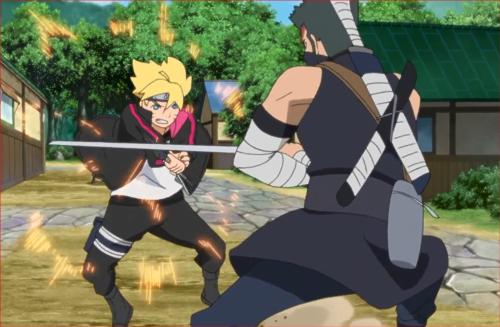 アニメBORUTO40話、葦丸に戦いを挑むボルト