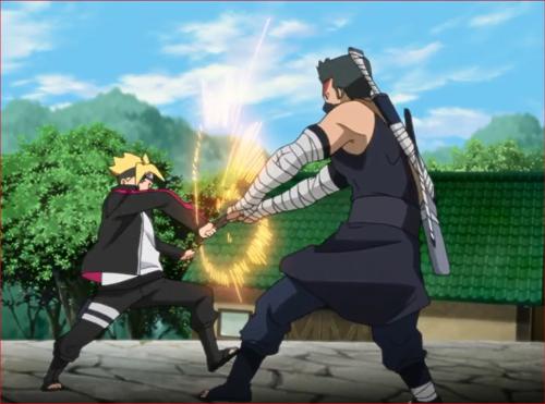 アニメBORUTO40話、葦丸に戦いを挑むボルト2
