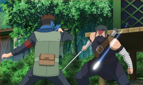 アニメBORUTO40話、葦丸を呼ぶ声とともに投げつけられた光玉