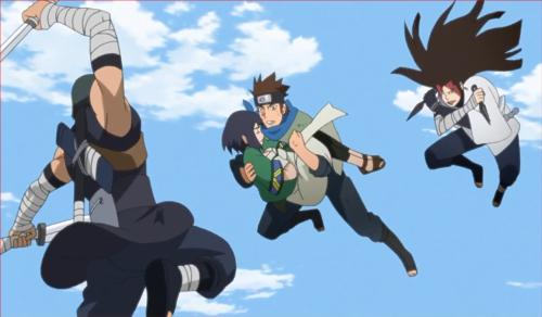 BORUTO41話、木ノ葉丸と伎璃を襲うヒダリと葦丸