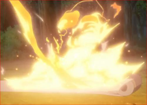 アニメBORUTO第46話、いのじんの巻物を焼く狐火
