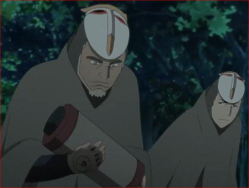 アニメBORUTO第46話、ゲッコウ、コイツには忍術をデータとして記録してあるのさ