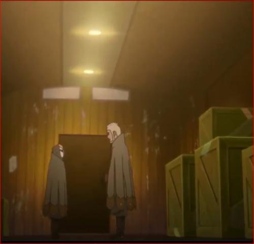 アニメBORUTO第46話、ゲッコウ、コイツに乗れば国境まで安心だ