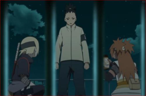アニメBORUTO第46話、チョウチョウ、なに?怖い顔して…ポテチ上げるから♪