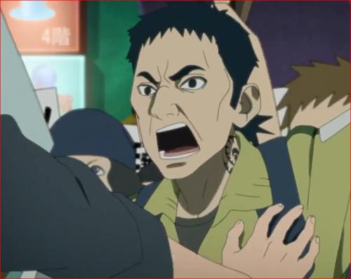 アニメBORUTO第46話、デモ扇動者の男性、オレは確かに聞いたぞ!