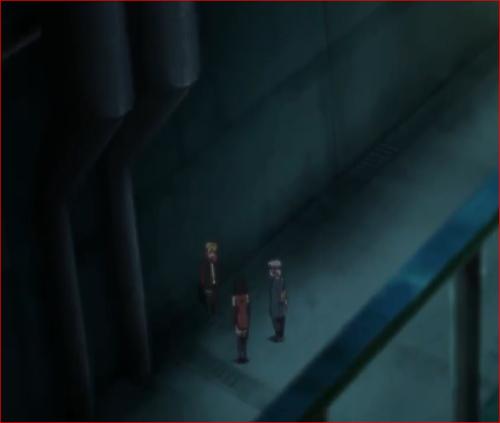アニメBORUTO第46話、路地裏で配置につく第七巻