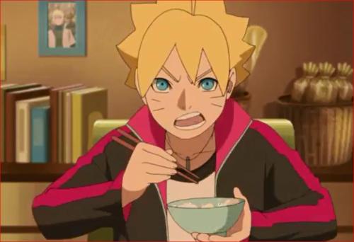 アニメBORUTO44話、うずまき家の食卓、でも、元はと言えば、父ちゃんがだらしないのがいけない!