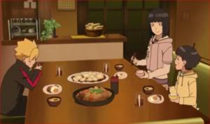 アニメBORUTO44話、うずまき家の食卓