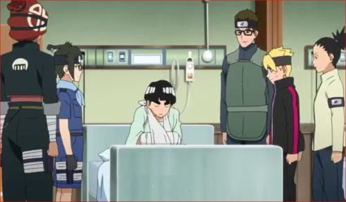 アニメBORUTO44話、メタルを心配して病室を見舞う仲間たち