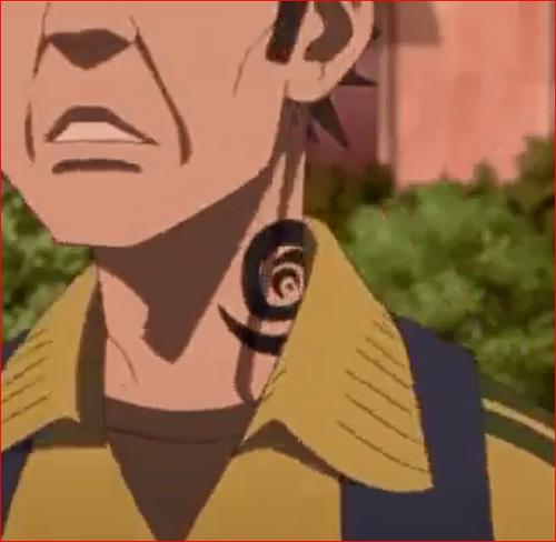 アニメBORUTO44話、リョウギを庇った男の首の入れ墨