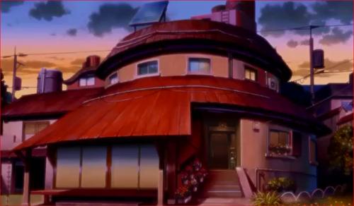 アニメBORUTO44話、夕刻のうずまき家外観