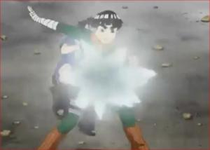 アニメBORUTO44話、氷の刃を手套で打ち砕こうとするメタル