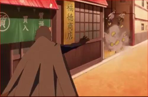 アニメBORUTO44話、白夜団の質屋強盗、委員長とワサビを攻撃するリョウギ