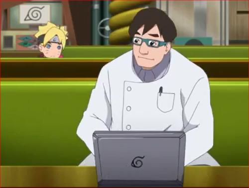 アニメBORUTO44話、科学忍具研究所、ボルト、なんだよオッチャンまで…