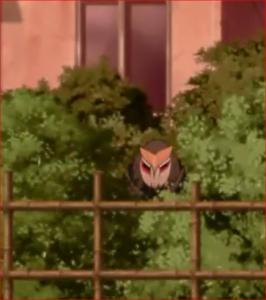 アニメBORUTO44話、茂みに潜んで隠れるリョウギ