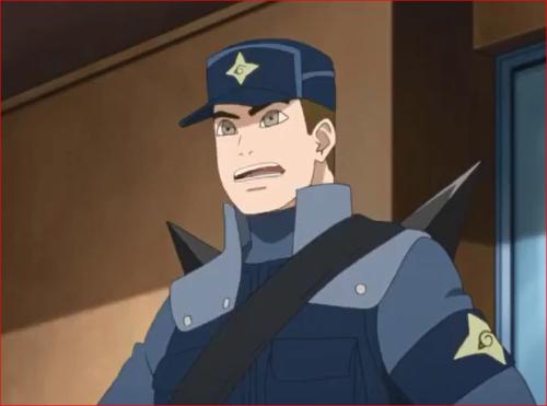 アニメBORUTO44話、警務部隊からの指令、下忍を集めて指示を出す風魔コウタロウ