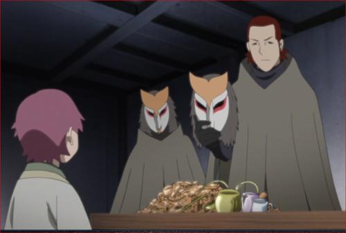 アニメBORUTO45話、オコ、オマエ、コイツを貯め込んでいた金貸しが…