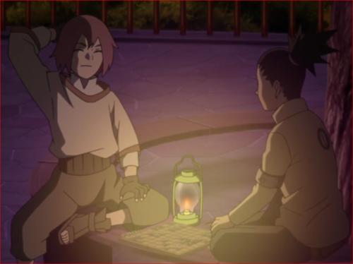 アニメBORUTO45話、将棋でシカダイに詰まされたリョウギ