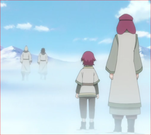 アニメBORUTO45話、任務に出かける父を見送るリョウギと母