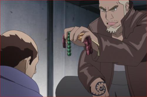 アニメBORUTO45話、村人に財宝を与えるゲッコウ
