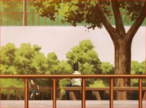 BORUTO43話、公園で詰め将棋をするシカダイ