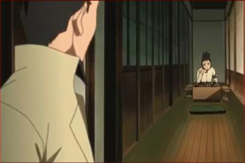 BORUTO43話、奈良家、真剣に将棋を打つシカダイ