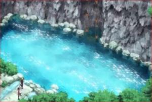 BORUTO43話、強盗犯捕獲作戦、小さな池と謎の装置