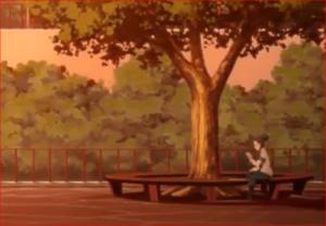 BORUTO43話、木ノ葉の里の公園
