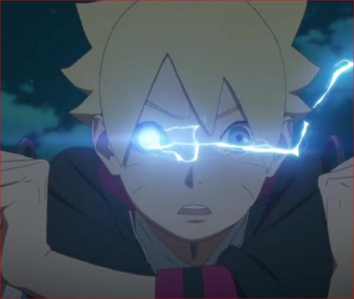 アニメBORUTO、淨眼モードで時空間移転するボルト