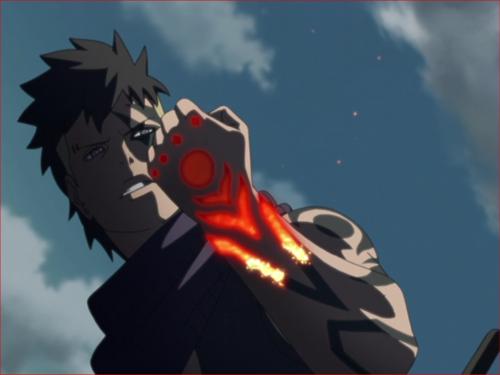 アニメBORUTO、火影岩の上で戦うボルトとカワキ