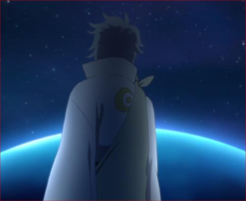 アニメBORUTO第8話、月から地球を見つめる大筒木トネリ