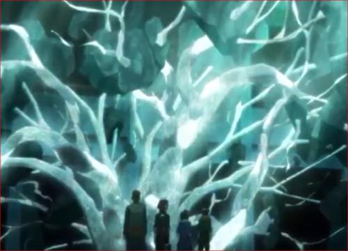 アニメBORUTO48話、忍法・ハナミズキで串刺しにされたコンクリート塊