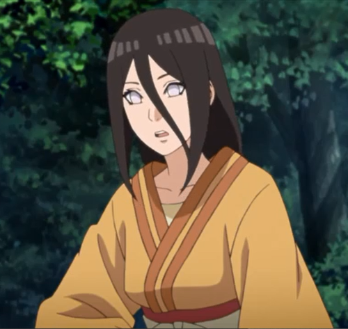 アニメBORUTO49話、スミレが告白を始める様子に緊張するハナビ