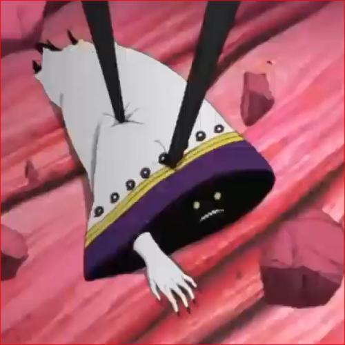 アニメNARUTO、カグヤの腕に合体した黒ゼツ