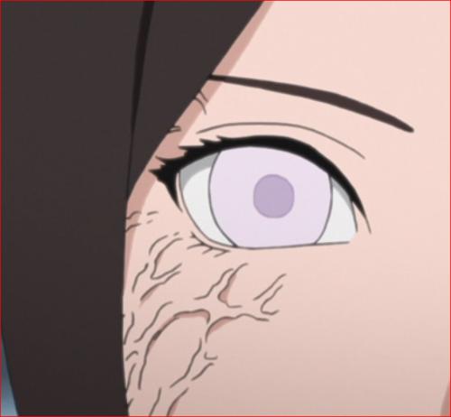 アニメBORUTO、日向ハナビの白眼
