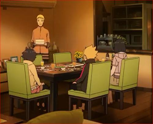 アニメBORUTO53話、いよいよヒマの目の前にケーキが…