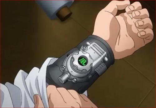 アニメBORUTO53話、カタスケの腕に装着した科学忍具
