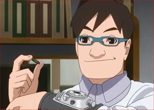 アニメBORUTO53話、科学忍具は、カートリッジを変えるだけで自在に術が使えます!
