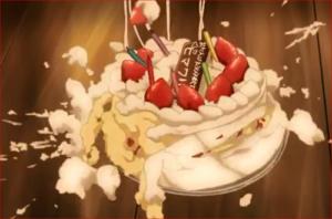 アニメBORUTO53話、床に落ちるケーキ…