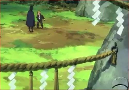 アニメBORUTO54話、サスケに螺旋丸を見せるボルト