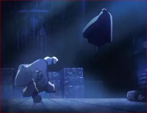 アニメBORUTO54話、大筒木キンシキの一撃をかわすサスケ