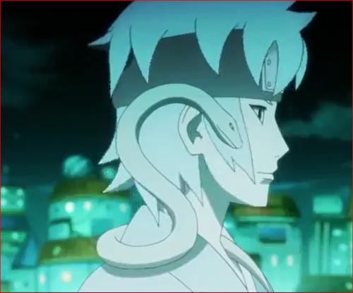 アニメBORUTO54話、大蛇丸と交信するミツキ
